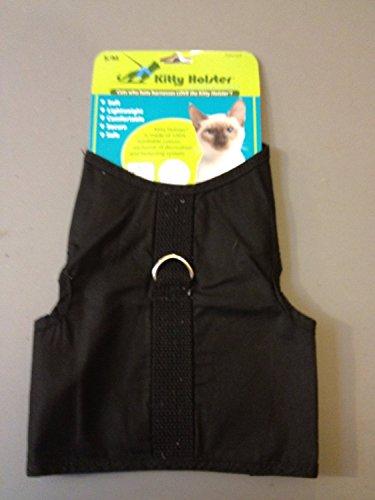 Kitty Holster Cat Harness, Medium/Large, Black (Cat Harness Medium compare prices)