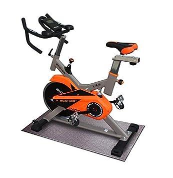 ECO-DE Bicicleta Spinning Indoor. Sistema de amortiguación VSS Uso semiprofesional con pulsómetro, Pantalla LCD y Resistencia Variable. Manillar ...