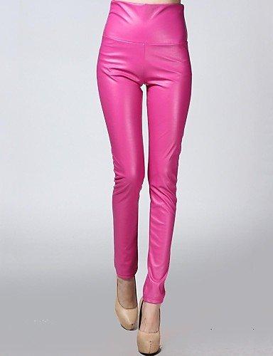 TT&KUZI Elastici Pantalone Aderente in Pelle di Velluto di incern®Women (più Colori), 2XL