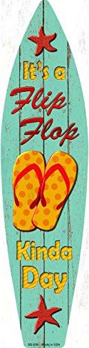 Flip Flop Day Metal Novelty Surf Board Sign SB-038