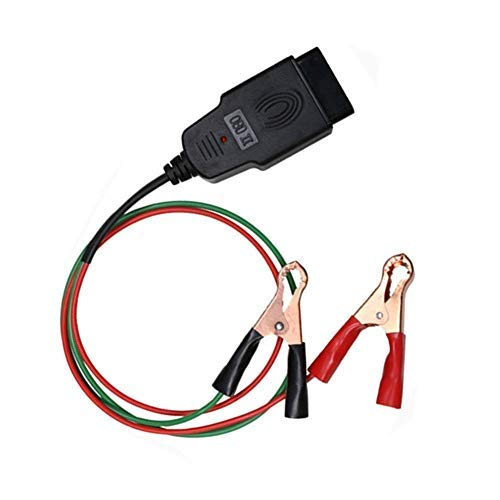 TONWON OBD2 Memory Saver Connector OBDII Car Diagnostic Cable OBD2 16pin Memory Saver Connector ECU Emergency Power Interface with Two Alligator Clips,Emergency Power Supply Interface for Car Battery Helper