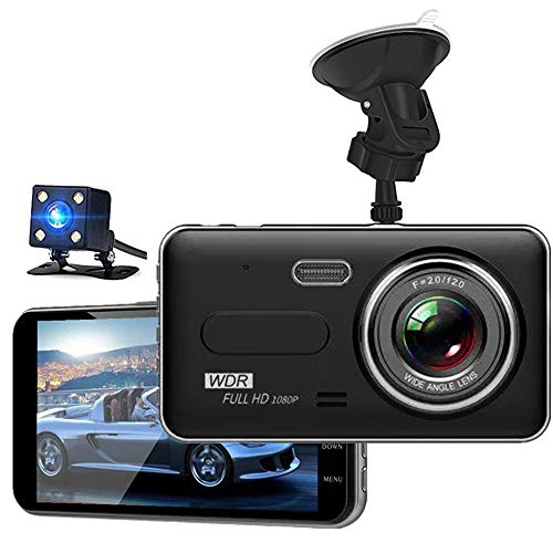 Dash Cam – KAILEDI 1080P Full HD Car DVR Dashboard Camera, Driving Recorder with 4 Inch LCD Screen, 170 Degree Wide Angle, WDR, G-Sensor, Motion Detection, Loop Recording