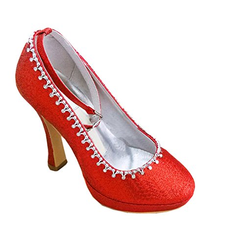 Kevin Fashion ,  Damen Modische Hochzeitsschuhe , Rot - Rojo - rojo - Größe: 43 EU