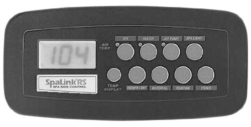 Zodiac 7894 8 Function Black SpaLink Remote Replacement for Zodiac Jandy AquaLink RS System, 300-Feet