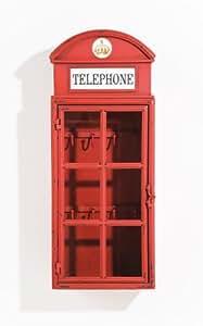 Kare Design MömaX - Caja para llaves, diseño de cabina telefónica de Londres