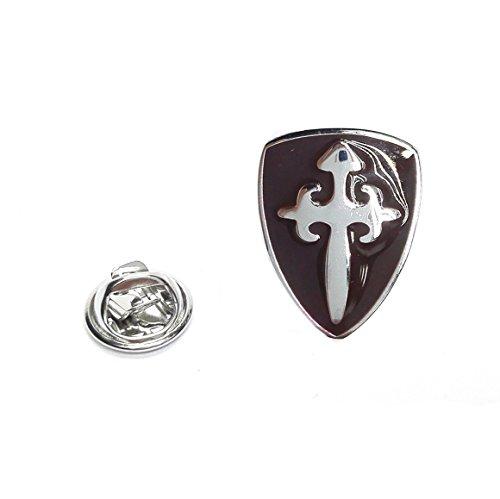 (Brown Knights Shield Lapel Pin Badge)