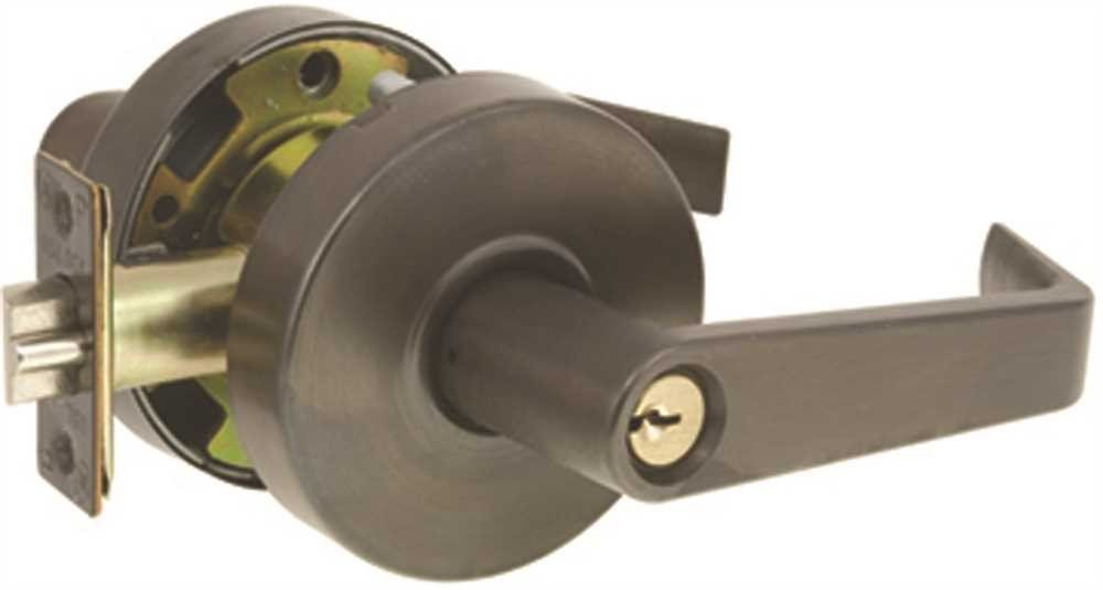 US Lock 2050 Storeroom Lever Monterey 2-3/4'' Backset Sc1 Oil Rubbed Bronze