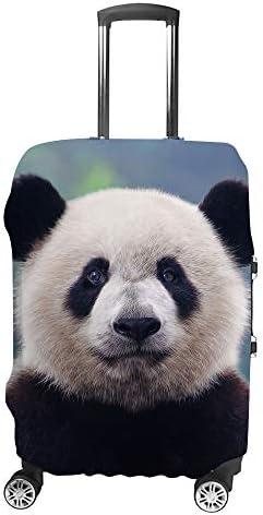 スーツケースカバー パンダ 伸縮素材 キャリーバッグ お荷物カバ 保護 傷や汚れから守る ジッパー 水洗える 旅行 出張 S/M/L/XLサイズ