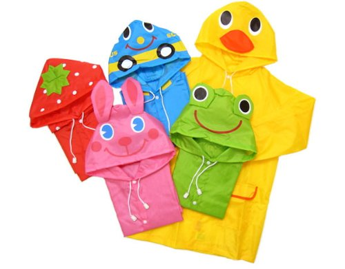 Gaorui Cute Waterproof Baby Raincoat Children Cartoon Kids Rainwear-5 Styles