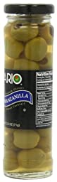 Mario Camacho Manzanilla Pitted Spanish Olives, 2.5-Ounce Jars (Pack of 6)