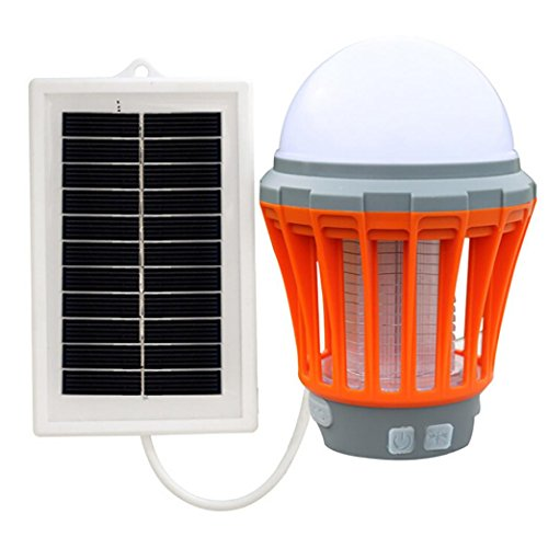Blue Music Box Vine (VIASA Solar LED Electric Fly Insect Bug Pest Mosquito Trap Zapper Killer Night Lamp (Orange))