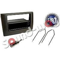 KIT Façade autoradio faisceau FIAT STILO 1 DIN / 2 DIN adaptateur antenne et clés