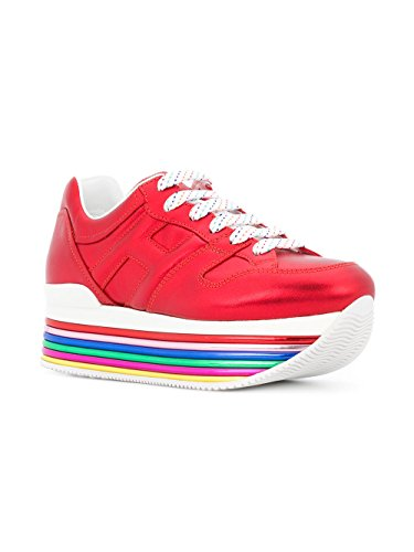 Hogan Damen Gyw3520t548sv0r001 Rot Leder Sneakers