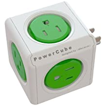 PowerCube Original, 5 Outlet Wall Adapter Power Strip with 5 outlets and Resettable Fuse - PC-4100-USORPC