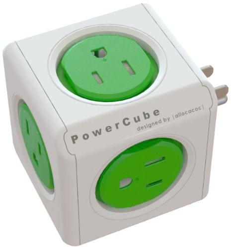 PowerCube Original, 5 Outlet Wall Adapter Power Strip with 5 outlets and Resettable Fuse - PC-4100-USORPC By Allocacoc