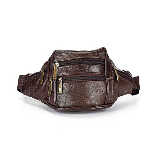 Waist Packs Men Organizer Travel Waist Pack Necessity Waist Belt Mobile Phone Bag,Brown