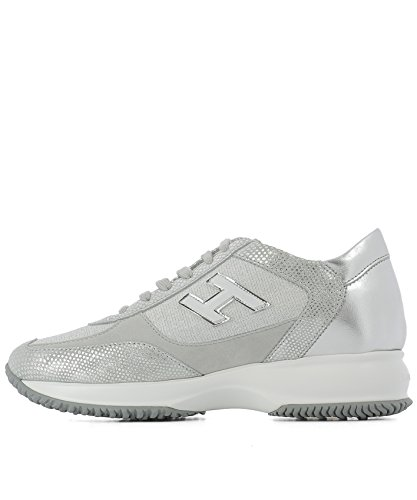 Hogan Sneakers Donna HXW00N03242F0Q09B2 Pelle Argento