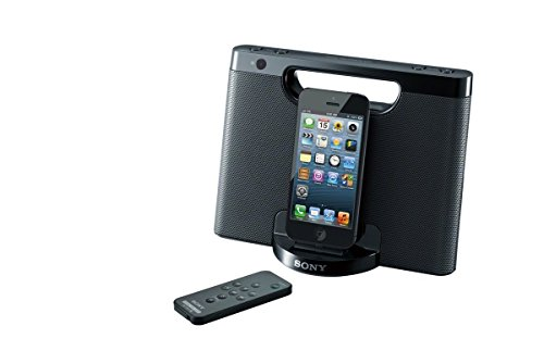 Ipod Speakers Docking Station - Sony RDP-M7IPN Lightning iPhone/iPod Portable Speaker Dock - Black