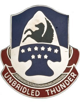 - 63rd Aviation Bde Unit Crest (Unbridled Thunder)