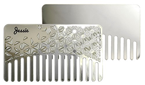 Personalized Star Mirror Go-Comb - Wallet Comb + Compact Travel Mirror