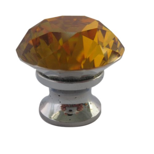 - Tangpan 30mm Crystal Glass Door Knobs Bin Dresser Cabinet Drawer Pull Handle Color Amber Pack of 5