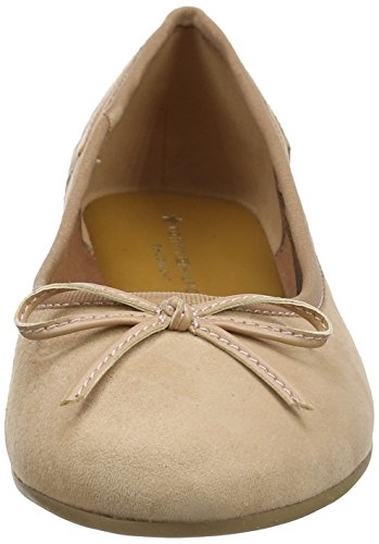 Elevated Hilfiger Ballerines Nude silky 297 Ballerina Marron Femme Tommy Suede g5wqZf