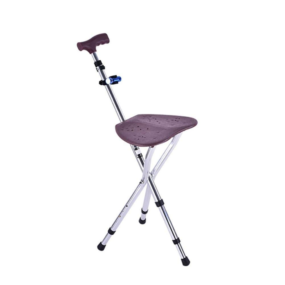 bastón silla asiento plegable