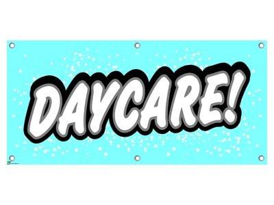 daycare preschool babysitting promotion business sign banner