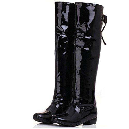 High Boots Extra Long Knee Size Women Black Pull Fashion KemeKiss IgTYq1wBn