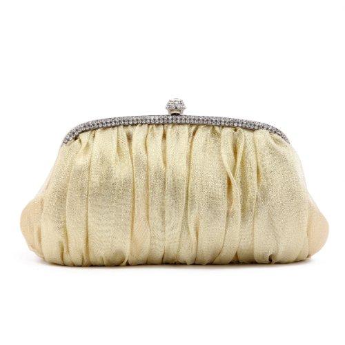 Bags Womens Crystal Frame Damara Sleek Glitter Evening Clutch Gold z0dtqIx