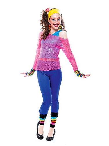 Girls 80's Dance Star Child Halloween Costume - Childrens Size 7 - 8
