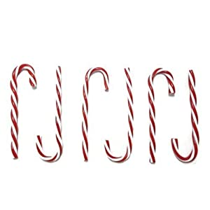 Plastic Candy Cane Ornaments, Red & White (6 Count Per Pack) 92