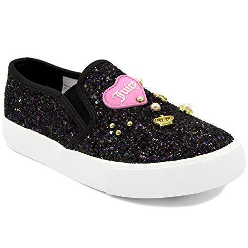 Juicy Couture Girls Fashion Low Top Sneakers Kids Slip-on Paradise Black 1 Lil - Shoes Couture