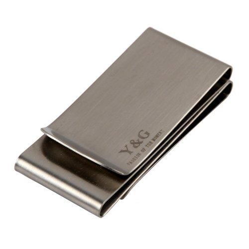 Y&G MC1048 Graduation Gift Idea Silver Stainless Steel Double-Sided Money Clip Wallet Relationships Formal Wear