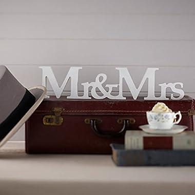 Ginger Ray Vintage Affair Mr. & Mrs. Wooden Wedding Sign, White