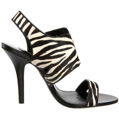 Calf Essen Printed Calf Zebra Maxstudio Women's Black Sandal Hair Slingback 841Tqw