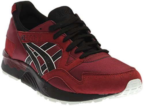 ASICS Men's Gel-Lyte V Fashion Sneaker, Pomegranate/Black, 11 M US