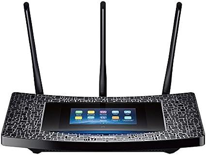 TP-Link RE590T - Extensor de Red WiFi con Pantalla táctil (AC1900 Mbps, tecnología Beamforming, 4 Puertos Gigabit, botón LED, procesador de Doble ...