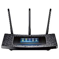 TP-Link Répéteur 1900 Mbps Wi-FI Gigabit Bi-Bande: 600 Mbps en 2.4 GHZ et 1300 Mbps en 5 GHz 4 Ports Ethernet Gigabit, Ecran Tactile, Compatibilité Universelle, Installation Facile (RE590T)