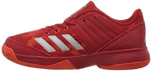 Pictures of adidas Unisex Ligra 5 K Tennis Shoe BY1859 Scarlet/Energy/Metallic Silver 5
