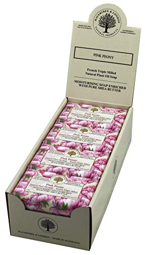 Wavertree & London Luxury Soap (8 bars) -Triple-milled (twice) Shea Butter soap Bar - Pink Peony