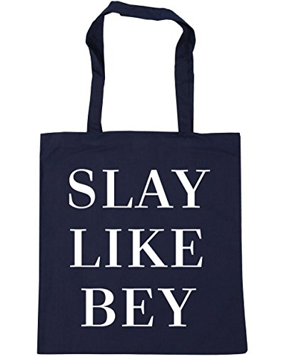Tote Slay French x38cm Shopping 10 HippoWarehouse Bey Navy Like Bag litres Gym Beach 42cm qdapxt7wIx