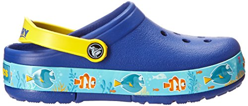 Crocs Kids' Finding Dory Light-Up Clog, Cerulean Blue/Lemon, 11 M US Little Kid by Crocs (Image #7)