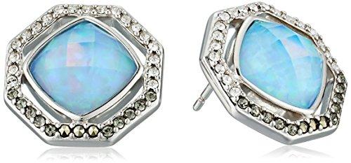 Judith Jack Sterling Silver and Blue Opal Stud Earrings by Judith Jack