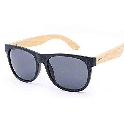 Hometom Bamboo Wood Sunglasses, Wayfarer Sunglasses With Polarized Lenses For Men or Women - Wayfarer Sunglasses Shape Face