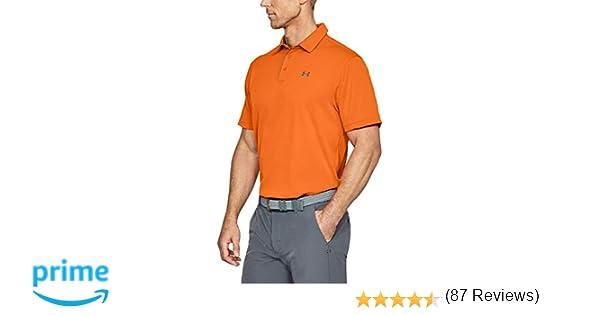 Under Armour Tech Polo, Hombre, Naranja (Team Orange/Graphite 800 ...