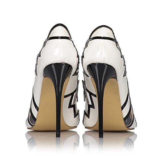 4 Sandales Sandali 4 3 White White White Femme 3 da Miyoopark Blanc donna Miyoopark Compensées con zeppa Sq0d0w