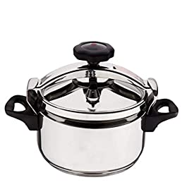 Pressure cooker household gas stove universal outdoor portable camping stainless steel explosion-proof small pressure cooker can be used in hotel restaurant (color: silver),40L