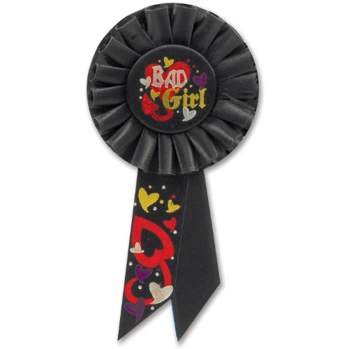 Beistle RS201 Bad Girl Rosette, 31/4 by 61/2-Inch