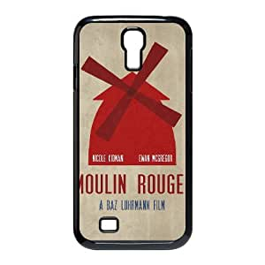 Samsung Galaxy S4 Cases Moulin Rouge Minimalist Poster 01, Fly [Black]